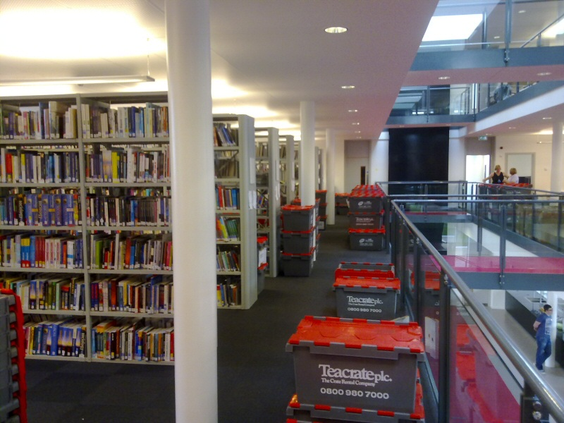 Got a lot to move? Books boxed and catalogued for a library move for Blackpool and the Fylde College.