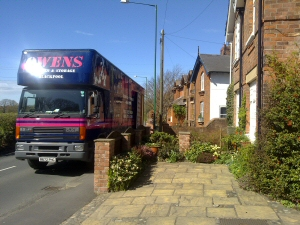 Photo - House move from Thornton Cleveleys to Silverdale, near Carnforth, Lancashire