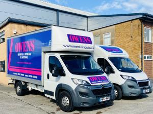 Photo - A couple of vehicles from the Owen's Removals fleet