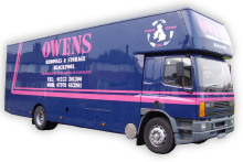 Owen's Removals Lorry